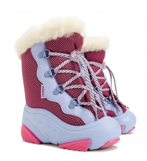Детские дутики, сноубутсы - Demar SNOW MAR 4017-A, розовые
