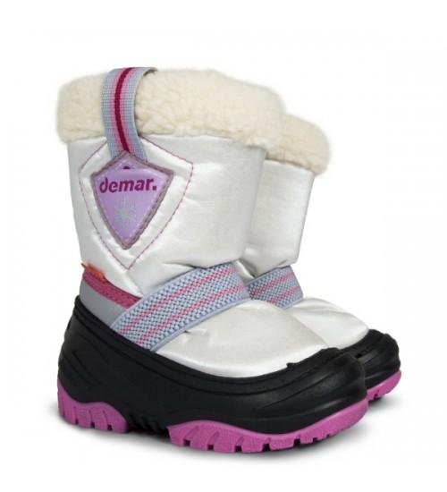 Детские дутики, сноубутсы - Demar TOBY 4031-B, розовые