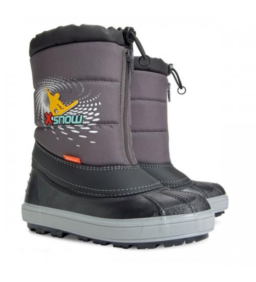 Детские дутики, сноубутсы - Demar X-SNOW 1503-B, серые