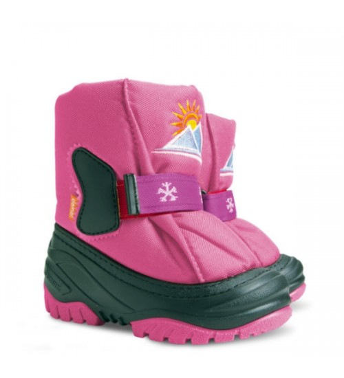Детские дутики, сноубутсы  - DEMAR SUN RISE 4034-A, розовые