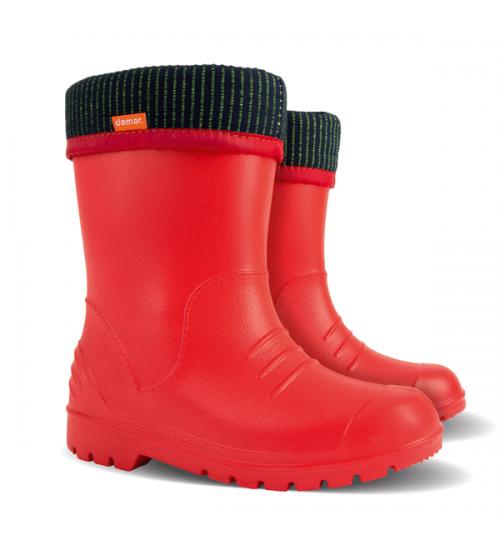 Резиновые сапоги - DEMAR DINO 0310-b, красные