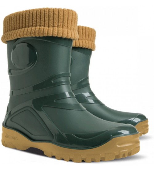 Резиновые сапоги - DEMAR YOUNG FUR 0466, зеленые