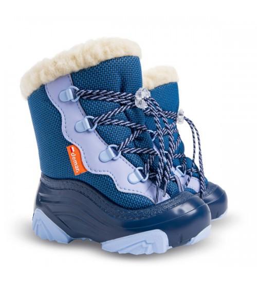 Детские дутики, сноубутсы - Demar SNOW MAR2 4017-NC, голубые