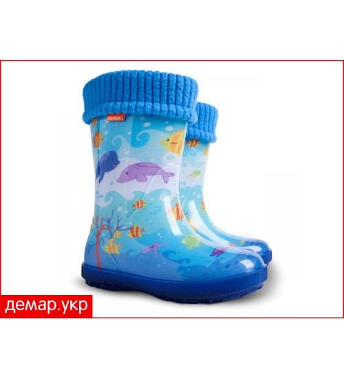 Детские резиновые сапоги - DEMAR HAWAI LUX EXCLUSIVE -eg0449, Океан