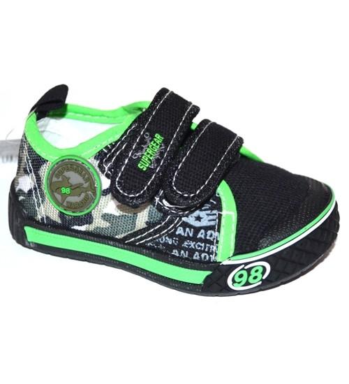 Мокасины SUPER GEAR A9449 black-green