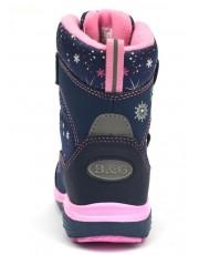 Термоботинки B&G HL209-814 розово-синий, сапоги на мембране