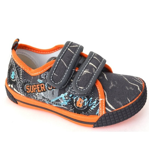 Мокасины SUPER GEAR A9806 dk.grey-orange