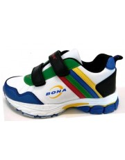 Кроссовки BONA 745i White-Black-Royal 31-36р