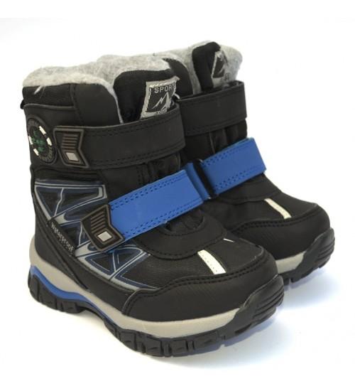 Термоботинки Tom M 5722c-black, зимние детские сапоги