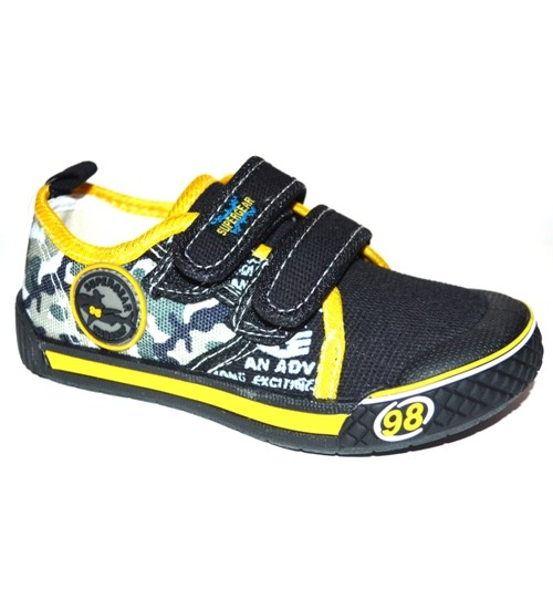 Мокасины SUPER GEAR A9450 black-yellow