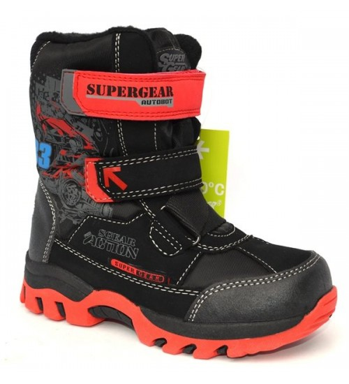 Термоботинки SUPER GEAR B196 black/red