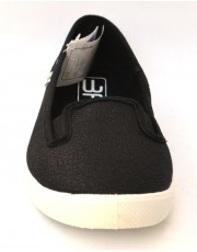 3F тапочки La Bamba 5LB-2G/6. Балетки Черные на белой подошве.