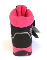 Термоботинки B&G R20-199 розово-черный